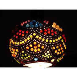Lampa z tykwy naturalna Afryka