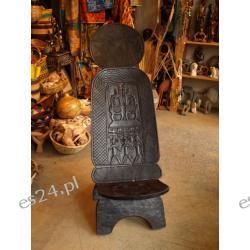Krzesło drewno ciemne Mali Djembe