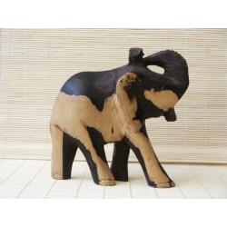 Piękny słoń hebanowy.