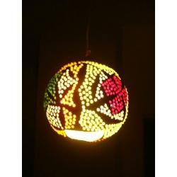 Lampa z tykwy naturalna Afryka   Rzeźba