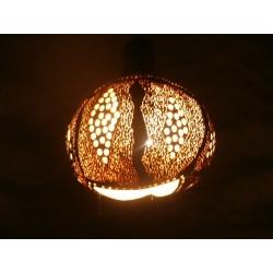 Lampa z tykwy naturalna Afryka   Biżuteria i Zegarki