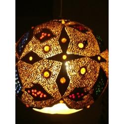 Lampa z tykwy naturalna Afryka   Naszyjniki