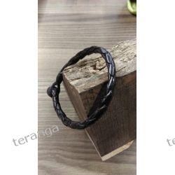 Bransoleta skóra cienka Senegal Unisex Biżuteria i Zegarki