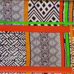 Tkanina WAX LEGOS Senegal Maracasy, grzechotki, kastaniety