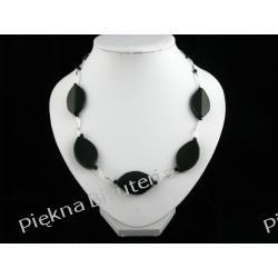 Naszyjnik - onyx oczko srebro