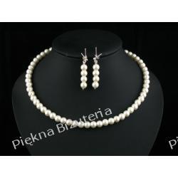 Biżuteria Ślubna - perły i srebro ecru