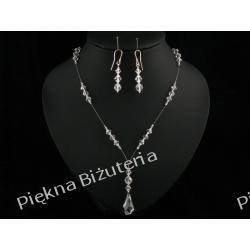 Biżuteria Ślubna - komplet kryształy Swarovski i srebro