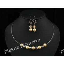 Biżuteria Ślubna - perły kryształ Swarovski i srebro ecru