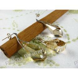 Biżuteria Swarovski - kryształ 21mm POLYGON GOLD srebro