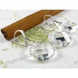 Biżuteria Swarovski - kryształ 18mm srebro TWIST PENDANT