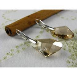 Kolczyki Swarovski kryształ 19mm GALACTIC PENDANT GOLD