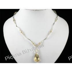 Biżuteria Ślubna Swarovski kryształ 22mm srebro GOLD piękny