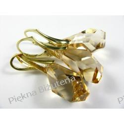 Biżuteria Swarovski 21mm POLYGON GOLDEN SHADOW pozłacane