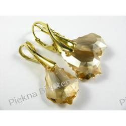 Biżuteria Swarovski 16mm BAROQUE GOLDEN SHADOW pozłacane