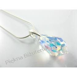 Biżuteria Swarovski kropla 22mm crystal ab z łańcuszkiem i pudełkiem - idealny prezent