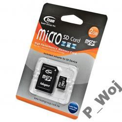 KARTA PAMIĘCI Team MicroSD 2GB + adapter SD WAWA