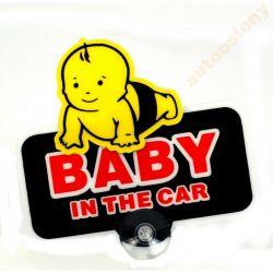 EMBLEMAT NAKLEJKA RUSZAJĄCA SIE BABY IN THE CAR