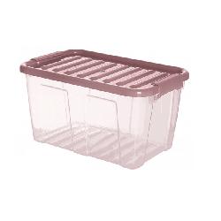 POJEMNIK PLASTIKOWY POKRYWĄ 12L HOME BOX C. FIOLET