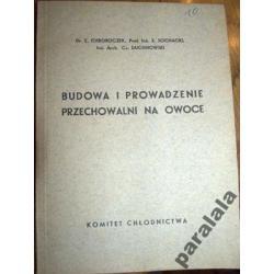 PRZECHOWYWANIE OWOCÓW Izolacja Wentylacja 1936 !!