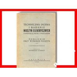 MASZYNY ELEKTRYCZNE Ocena Silniki Pomiary 1929 r !