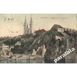 Praga Wyszehrad z tunelen 1927 pocztowka Wysehrad