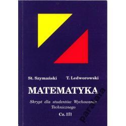 MATEMATYKA skrypt dla studentow 3 Całki Równania