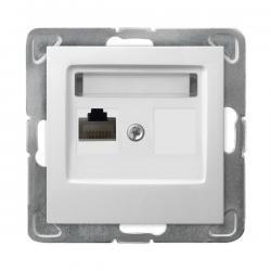 Ospel Impresja Gniazdo komputerowe pojedyncze RJ45 kat.5e KRONE biały GPK-1Y/K/m/00