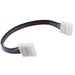 Superled Złączka CLICK podwójna do taśm LED RGB 10mm + przewód 14cm 3639