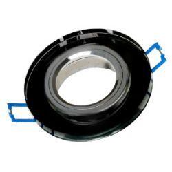 Superled Oprawa oprawka led halogenowa stała szklana okrągła kolor czarny OH26 3443