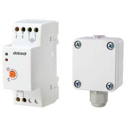 Orno Czujnik automat zmierzchowy na szynę DIN z zewnętrzną sondą w puszce 3000W IP65 / IP20 OR-CR-231