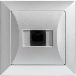Timex Opal Gniazdo komputerowe pojedyncze 1xRJ45 srebrny
