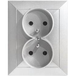 Timex Opal Gniazdo podwójne 2x2P+Z srebrny