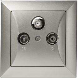 Timex Opal Gniazdo RTVSAT przelotowe srebrny
