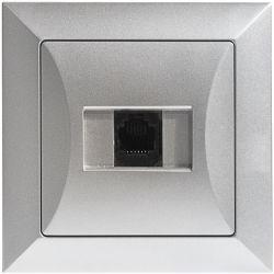 Timex Opal Gniazdo telefoniczne pojedyncze 1xRJ11 srebrny