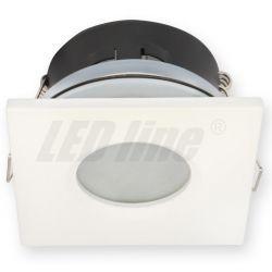 LED line Oprawa oprawka led halogenowa wodoodporna stała kwadratowa kolor biały IP65 245374