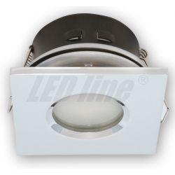 LED line Oprawa oprawka led halogenowa wodoodporna stała kwadratowa kolor chrom IP65 245381