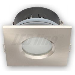 LED line Oprawa oprawka led halogenowa wodoodporna stała kwadratowa kolor satyna IP65 245398