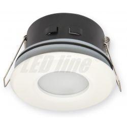 LED line Oprawa oprawka led halogenowa wodoodporna stała okrągła kolor biały IP65 245428