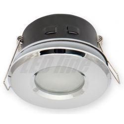 LED line Oprawa oprawka led halogenowa wodoodporna stała okrągła kolor chrom IP65 245435
