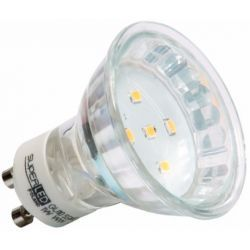 Superled Żarówka LED GU10 SMD 1W (10W) 80lm 230V barwa ciepła 3111