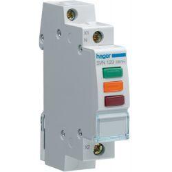Hager Lampka sygnalizacyjna LED czerwona+zielona+pomarańczowa 230V SVN129