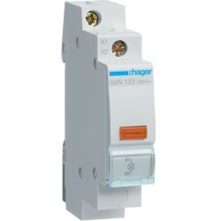 Hager Lampka sygnalizacyjna LED pomarańczowa 230V AC SVN123