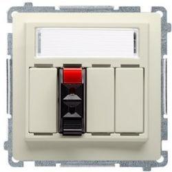 Kontakt Simon Basic moduł Gniazdo głośnikowe pojedyncze beżowy BMGL31.01/12