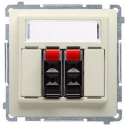 Kontakt Simon Basic moduł Gniazdo głośnikowe podwójne beżowy BMGL3.01/12