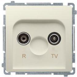 Kontakt Simon Basic moduł Gniazdo antenowe RTV przelotowe beżowy BMZAP16/1.01/12