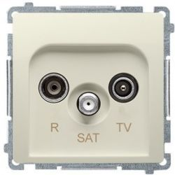 Kontakt Simon Basic moduł Gniazdo antenowe RTVSAT końcowe beżowy BMZAR-SAT1.3/1.01/12