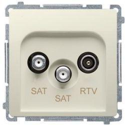 Kontakt Simon Basic moduł Gniazdo antenowe RTV+SAT+SAT końcowe beżowy BMZAR+SAT3.1-P2.01/12