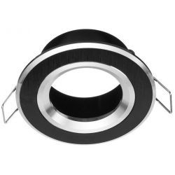 Superled Oprawa oprawka led halogenowa stała okrągła czarna + GU10 3256