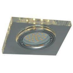 Superled Oprawa oprawka led halogenowa stała szklana kwadratowa clear z bocznym podświetleniem barwa ciepła 3306