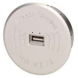 Orno Bezprzewodowa ładowarka indukcyjna z dodatkowym portem USB OR-AE-1367/G